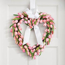 Tulip Heart Wreath