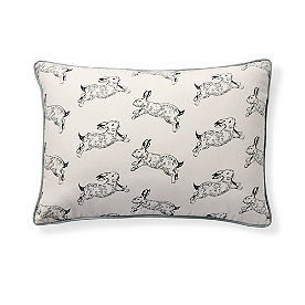 Bunny Print Lumbar Pillow
