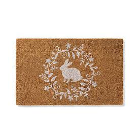 Bunny Emblem Coir Door Mat