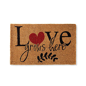 Love Grows Coir Door Mat