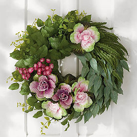 Garden Greens Wreath