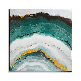 Teal Agate Wall Art
