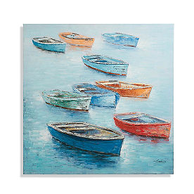 Colorful Boats Wall Art