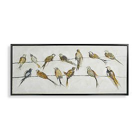 Neutral Birds on a Wire Wall Art