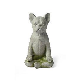 Yoga Dog Garden Statue, Lotus