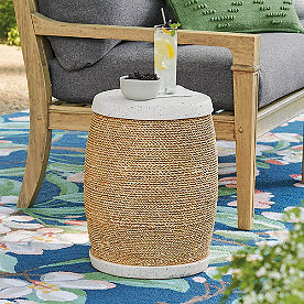 Pamlico Rope Garden Stool