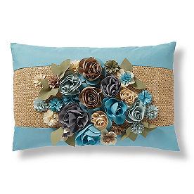 Topiary Outdoor Raffia Pillows