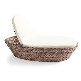 Blue Ash Wicker Chaise