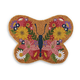 Butterfly Shaped Coir Mat