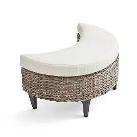 Giverny Wicker Ottoman