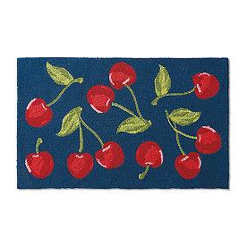 Cherry Toss Hooked Door Mat