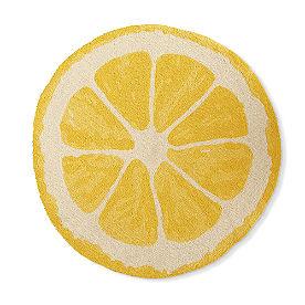Lemon Shape Hooked Rug