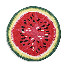 Watermelon Shape Hooked Rug