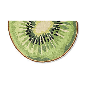 Kiwi Slice Hooked Door Mat
