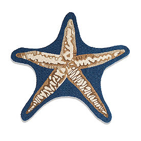Marina Starfish Shape Hooked Outdoor Rug