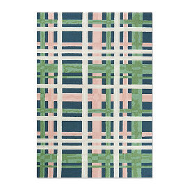 Blossom Plaid Hooked Outdoor Rug & Mat