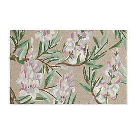 Blossom Wisteria Hooked Outdoor Rug & Mat