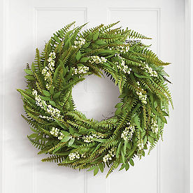 Mixed Fern Wreath