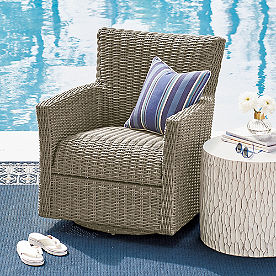 Simsbury Outdoor Wicker Swivel Glider Chair