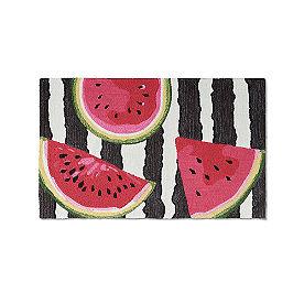 Watermelon Stripe Hooked Door Mat