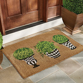 Topiary Coir Door Mat