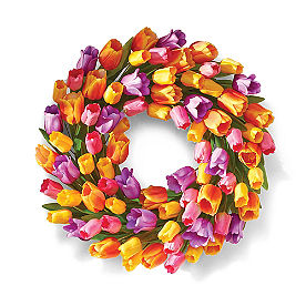 Multi Tulip Wreath