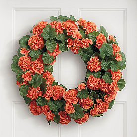 Orange Geranium Wreath