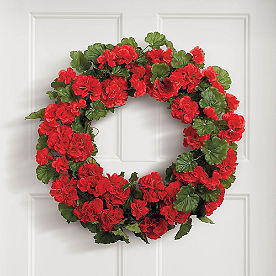 Red Geranium Wreath