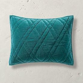 Diamond Stitched Velvet Sham