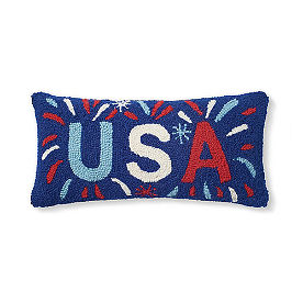 USA Firework Hooked Pillow