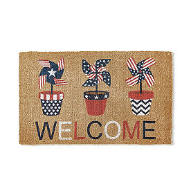 Pinwheel Welcome Coir Door Mat