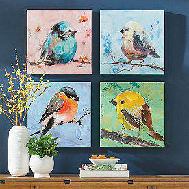 Colorful Birds, Set of Four