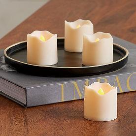 Soft Glow Votive Candles, Set of Four