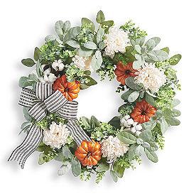 Farmhouse Pumpkin Wreath