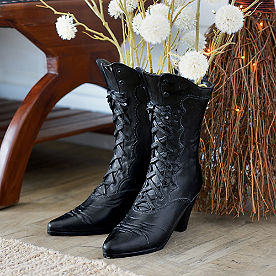 Victorian Witch Boot Planter
