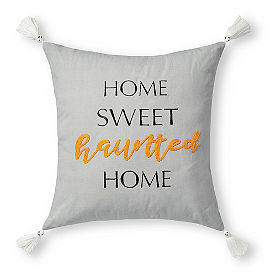 Home Sweet Haunted Home Reversible Pillow