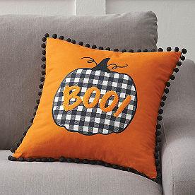 BOO Pumpkin Reversible Pillow
