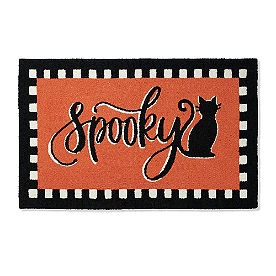 Spooky Hooked Door Mat
