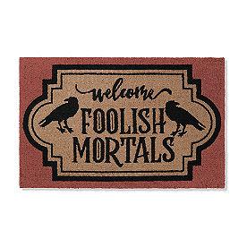 Foolish Mortals Hooked Door Mat