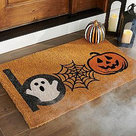 Halloween Boo Coir Door Mat