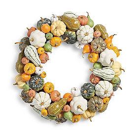Pumpkin and Gourd Wreath