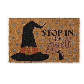 Stop For A Spell Coir Door Mat