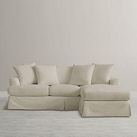 Ava Chaise Slipcovered Sofa