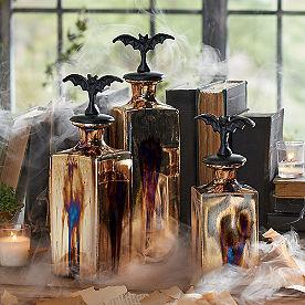 Metallic Apothecary Jars, Set of Three