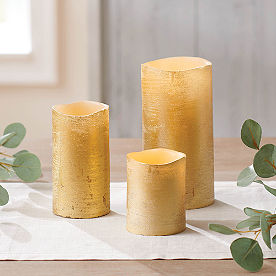 Iced Metallic Battery Operated Candle