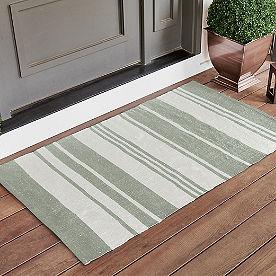 Striped Layering Door Mat