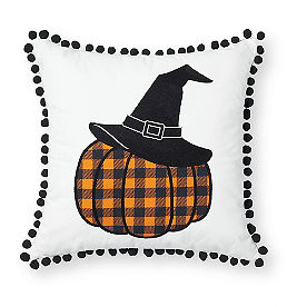 Witch Hat Pumpkin Reversible Pillow