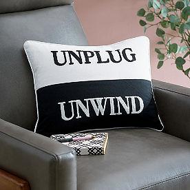Unplug Unwind Pillows