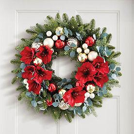 Amaryllis Cordless Wreath