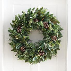 Farmhouse Christmas Cordless Wreath